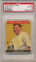 1933 Sport King 2 Ruth PSA 2 (undergraded)