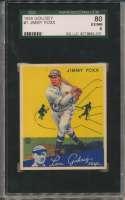 1934 Goudey 1 Foxx SGC 6