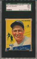 1934 World Wide Gum 92 Gehrig SGC 1.5