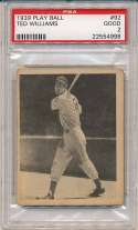 1939 Play Ball 92 Ted Williams RC PSA 2