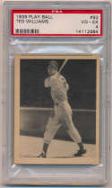 1939 Play Ball 92 Ted Williams PSA 4