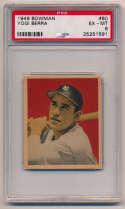 1949 Bowman 60 Berra PSA 6