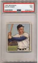 1950 Bowman 33 Ralph Kiner PSA 7