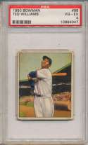 1950 Bowman 98 Ted Williams PSA 4