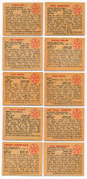 1950 Bowman  155 different commons/minors VG-Ex/Ex w/nicer