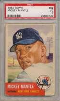 1953 Topps 82 Mantle PSA 3