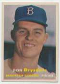 1957 Topps 18 Drysdale RC Ex++ Ctd