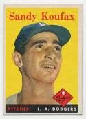 1958 Topps 187 Koufax Ex++