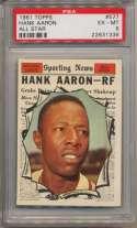 1961 Topps 577 Aaron AS PSA 6
