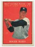 1961 Topps 478 Maris MVP Ex+