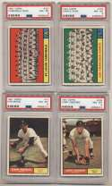 1961 Topps  219 commons/minors, mostly different w/12 PSA 8s Strong NM to Nm-Mt