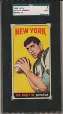 1965 Topps 122 Joe Namath RC SP SGC Authentic