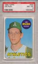 1969 Topps 587 Rudi RC PSA 8