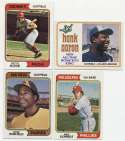 1974 Topps  290 Assorted w/stars + Traded Set Ex-Mt/NM