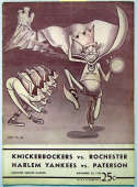 Program  1950 Knicks/Royals Signed Program (8 sigs w/3 HOFers) 7.5