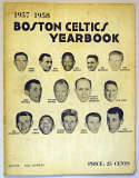 1957 Yearbook  Boston Celtics VG-Ex/Ex