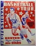 1957   Rare Boston Celtic Tour/All Star Program Ex