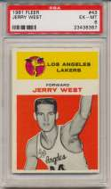 1961 Fleer 43 West RC PSA 6
