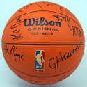 Autographed Basketball  1981-82 Boston Celtics Team Signed Basketball (20 sigs) 9