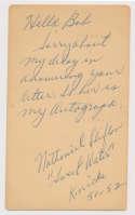 GPC  Clifton, Nat (1957) (double-signed) 9.5 JSA LOA (FULL)