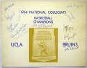 Program  1964 UCLA Bruins Signed Program (12 sigs) 9