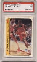 1986 Fleer Sticker 8 Michael Jordan PSA 7