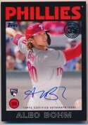 2021 Topps Series 1 1986 Insert 86 Alec Boh Signed Card Nm-Mt