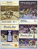 1969 Program  Collection of 26 Bobby Orr era Bruins Programs w/playoffs