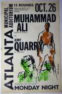 1970   Rare Ali Quarry On Site Original Fight Poster Ex