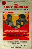 1980   Ali/Holmes Fight Poster VG-Ex
