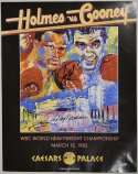 Large Print  Holmes/Neiman Signed 1982 Fight Poster 9.5