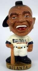 1965 Bobbin Head  Atlanta Braves Figural Round Gold Base Ex-Mt
