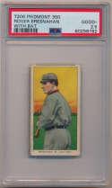 1909 T206 52 Bresnahan (with bat) PSA 2.5