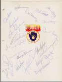 Team Sheet  1982 Cardinals 9