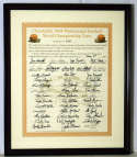 Large Print  1964 Browns Team Signed Piece w/Brown 9.5 JSA LOA (FULL)