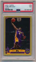 2003 Topps Gold 36 Kobe Bryant PSA 7