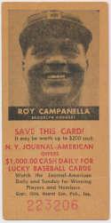 1954 NY Journal American 2 Roy Campanella VG-Ex/Ex