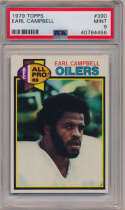 1979 Topps 390 Earl Campbell RC PSA 9