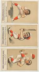 1880 Capadura Cigar  Lot of 5 different trade cards VG+
