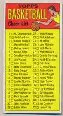 1969 Topps 99 Checklist VG unmarked