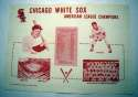 1960   Chicago White Sox Paper Placemat Nm-Mt