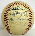 Chief Meyers Signed 1960s Baseball 8