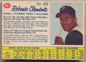1962 Post Cereal Canadian 173 Roberto Clemente VG