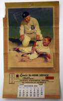 1954   Ty Cobb Calendar VG