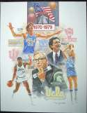 1983   College Basketball Artists Proof Print Set (5 pcs) NM
