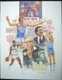 1983   College Basketball Artists Proof Print Set (5 pcs) NM