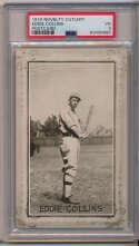 1907 Novelty Cutlery Postcards  Collins, Eddie PSA 3