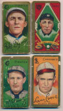 1911 T205  4 different commons Good