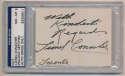 Conacher, Lionel Signed Card PSA 8