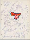 Team Sheet  1982 Cubs (30 w/Rookie Sandberg) 9